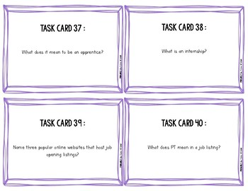 Get Hired! Employability Task Cards