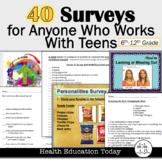 Surveys: 40 Surveys to Spark Interest in Your Lessons!