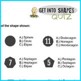 Get Into Shapes, Elementary geometry math shapes, lesson a