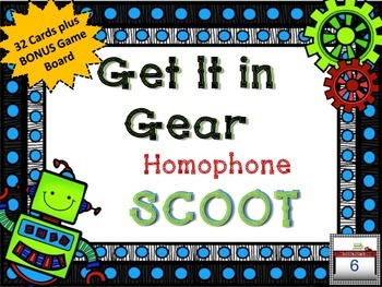 Get It in Gear SCOOT Easily Confused Homophones