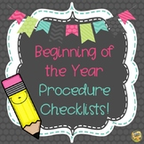 Teach Procedures!  Classroom Management Checklists!  Start the year off right!