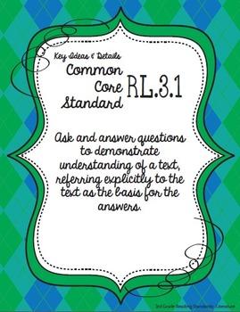 Get Organized!  3rd Grade Common Core ELA Binder Organizer & Tracker