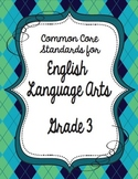 Get Organized!  3rd Grade Common Core ELA Binder Organizer