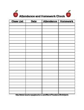 Get Organized! Attendance and Homework Check