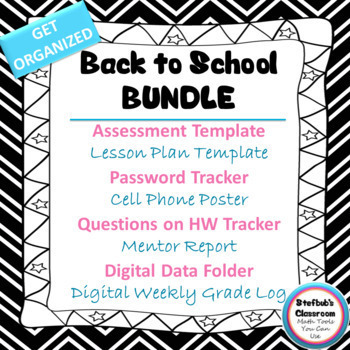 Get Organized Back to School Bundle