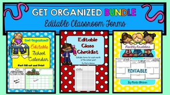 Get Organized - Bundle of Editable Monthly Forms