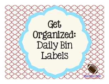 Get Organized: Daily Bin Labels