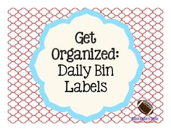 Get Organized: Daily Bin Labels