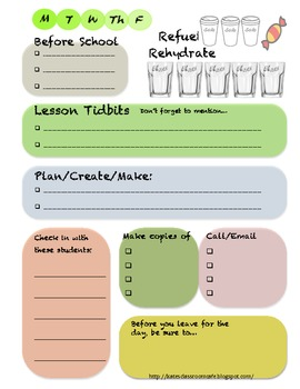 Get Organized! Desktop Checklist Freebie