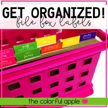 Get Organized! Editable File Box Labels