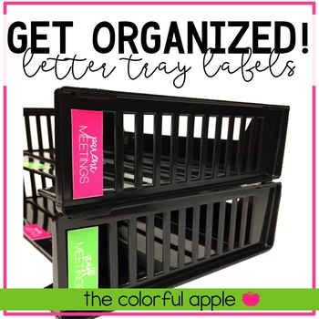 Get Organized! Editable Letter Tray Labels