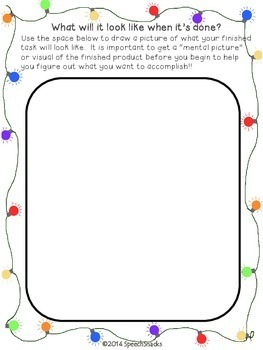 Get Organized For the Holidays {A FREEBIE for  Executive Functioning Skills}