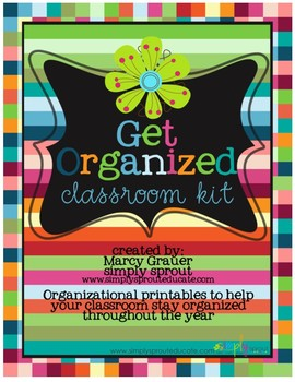 Get Organized Printable Kit for the Classroom teacher