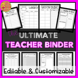 Teacher Lesson Planner and Binder (EDITABLE)