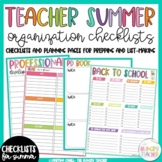 Organizers, Checklists, and Plan Pages for Teachers: Get Organized This Summer!
