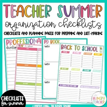 Organizers, Checklists, and Plan Pages for Teachers: Get O