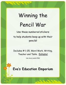 Get Organized and Win the Pencil War - with Stickers!