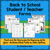 Get Organized with Back to School Forms (color and black/w