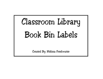 Get Organized with Library Book Bin Labels