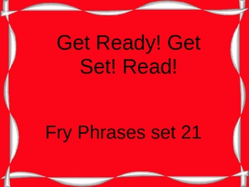 Get Ready! Get Set! Read! set 21