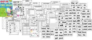 Get Ready for 1st Grade! PRINT & DIGITAL {Math & ELA} (TEKS & CCSS Aligned)