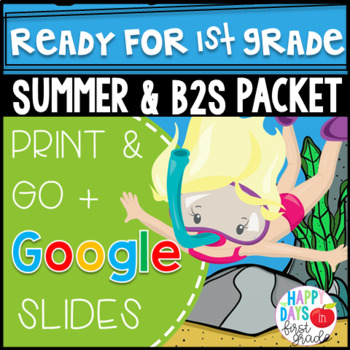 Get Ready for 1st Grade! Distance Learning (PRINT & DIGITAL)