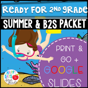 Get Ready for 2nd Grade! PRINT & DIGITAL {Math & Literacy} (TEKS & CCSS Aligned)