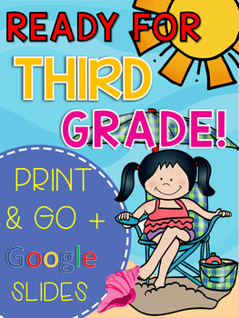 Get Ready for 3rd Grade! PRINT & DIGITAL {Math, ELA Choice Board, & Sight Words}