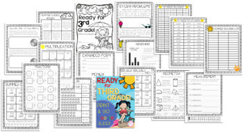 Get Ready for 3rd Grade! PRINT & DIGITAL {Math, ELA Choice Board, & Sight Words}