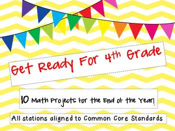 Get Ready for 4th Grade!  10 Math Projects to End 3rd Grade-CCSS aligned