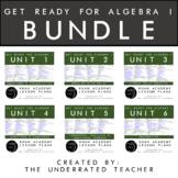 Get Ready for Algebra 1  Math Lesson Plans BUNDLE