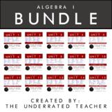 Algebra 1 Math Lesson Plans BUNDLE