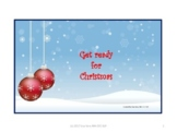Get Ready for Christmas AAC core words interactive book