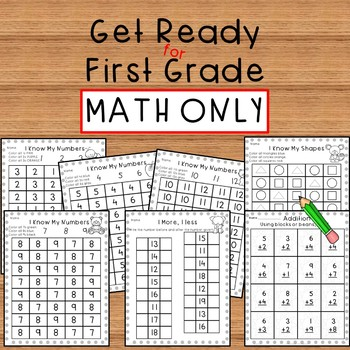 Get Ready for First Grade MATH ONLY-Summer Skills Packet