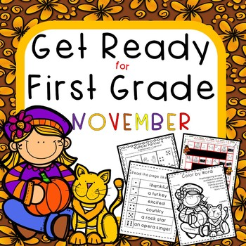Get Ready for First Grade NOVEMBER