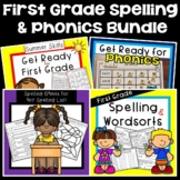 Get Ready for First Grade, Phonics, and Spelling Bundle 30