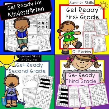 Get Ready for First Grade, Second Grade, Third Grade Bundled!