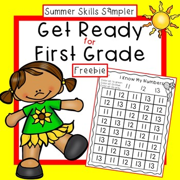 Get Ready for First Grade Summer Skills Sampler Free