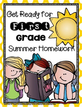 Get Ready for First Grade Weekly Summer Homework