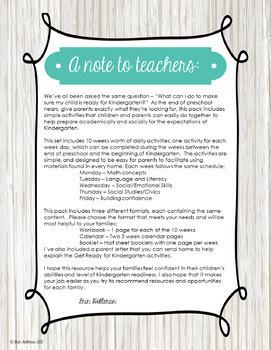 Get Ready for Kindergarten - Summer Review