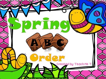 Get Ready to Leap Into March! ABC Order Facebook FREEBIE