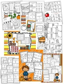 HUGE Fall Kindergarten BUNDLE Centers, Morning Work, Printables, Pumpkins, Books