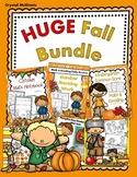 HUGE Fall Kindergarten BUNDLE Centers, Morning Work, Printables, Pumpkins, Books