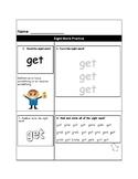 Get Sight Word Sheet