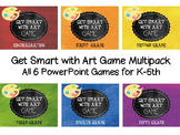 Get Smart with Art Game Multipack- All K-5 Powerpoint Games
