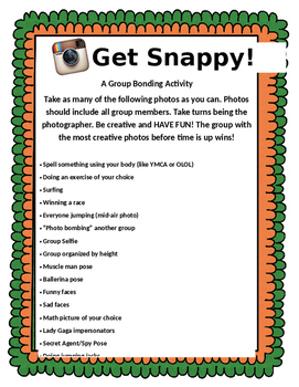 Get Snappy! Photo Team Building Activity