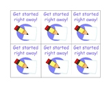 Get Started Right Away! cards