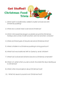 Get Stuffed! Christmas Food Trivia