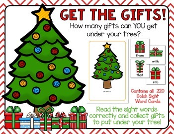 Get The Gifts!  A Dolch Sight Words Game - Includes all 22