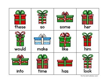 Get The Gifts!  A Fry Words Game - Includes the First 300 Fry Words!